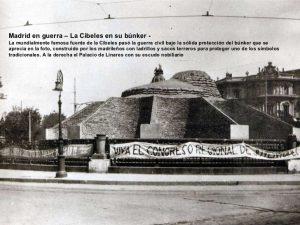 cibeles bunker 300x225 - Fotos Antiguas de Madrid